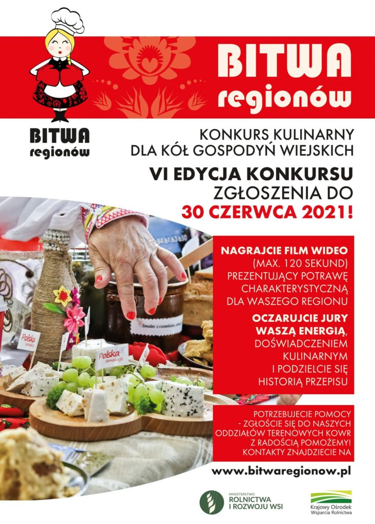 """""""Bitwa Regionów""""- konkurs kulinarny dla Kół Gospodyń Wiejskich"""