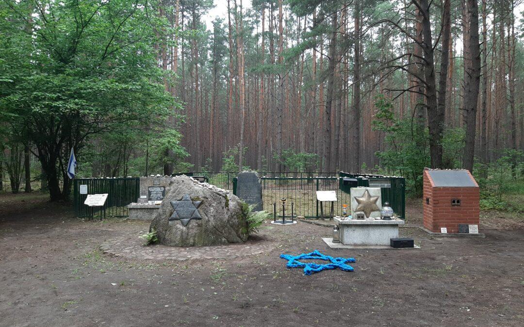 Sprzątanie terenu w lesie łopuchowskim